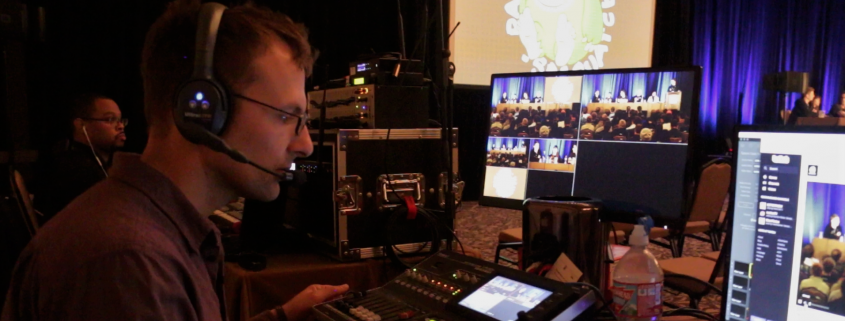 Marshall Livestreaming a Connected Event in Louisiana