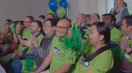 Accenture folks enjoying the live stream
