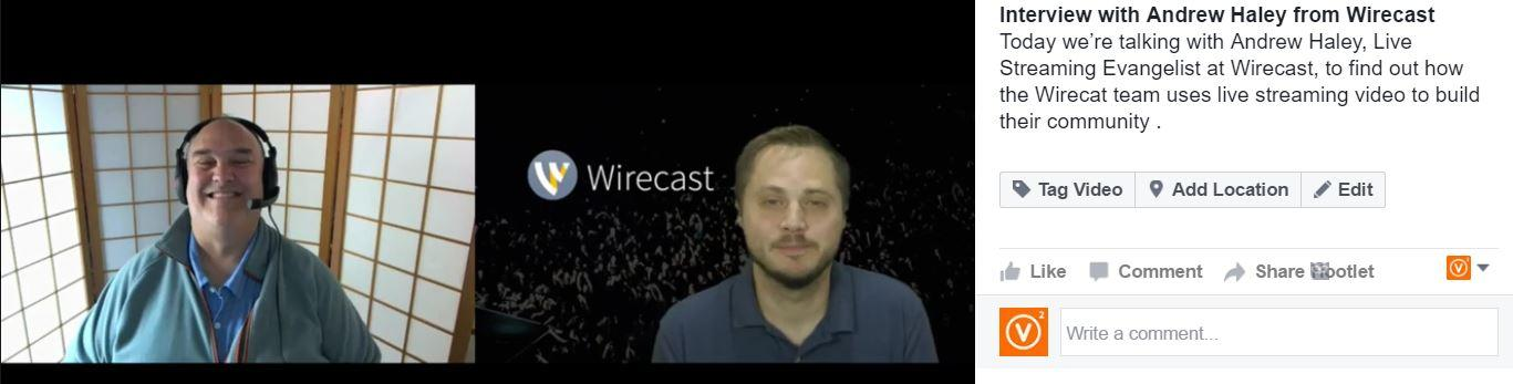 Wirecast Interview with Andrew Haley about live streaming